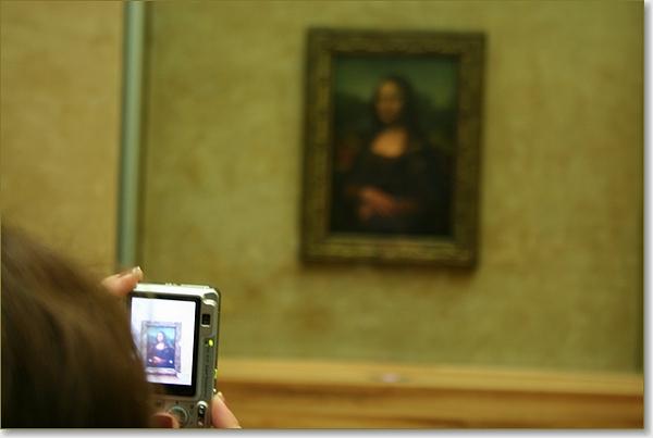 De Mona Lisa in het Louvre in Parijs.