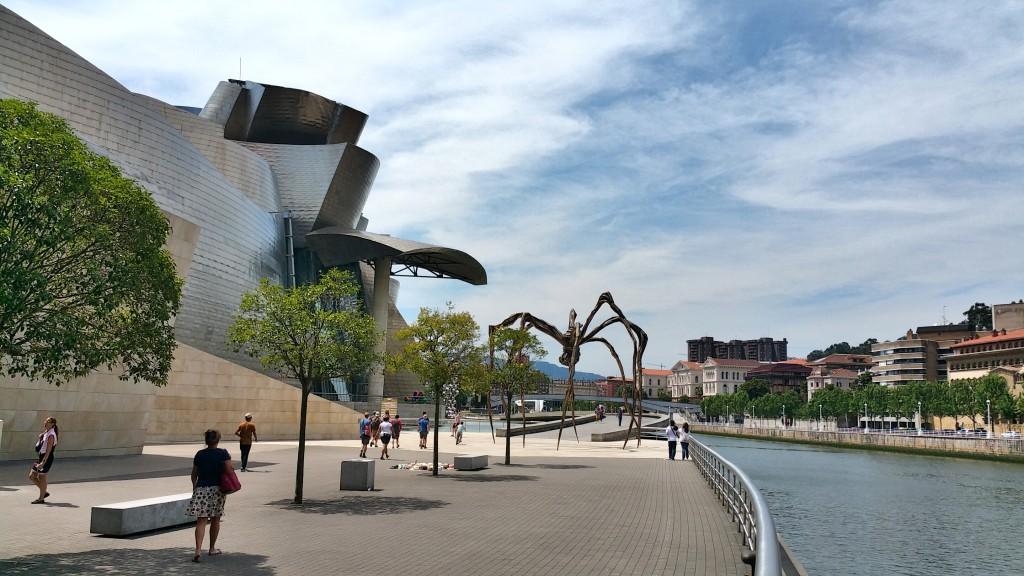 Het Guggenheimmusuem in Bilbao.